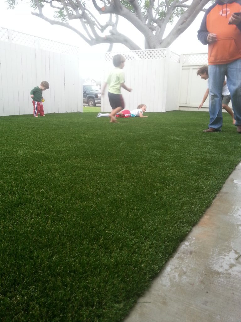 Synthetic Lawn Playground Installation Chula Vista, Best Artificial Turf Backyard Playgrounds