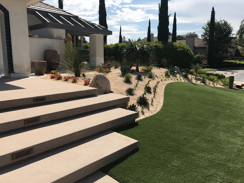 Synthetic Turf Installation Contractor Projects Chula Vista, New Residential or Business Project Artificial Landscape Installation